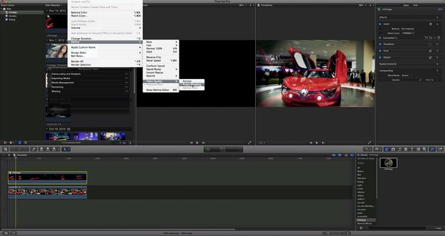 Sample Final Cut Pro X project with retimed mVintage burns