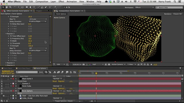 03 – Getting Started with Trapcode Form: Spheres, OBJs, and Audio Reac
