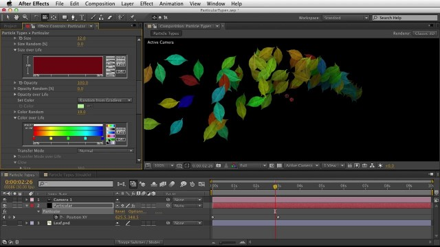 05. Getting Started with Trapcode Particular 2 – Particle Types