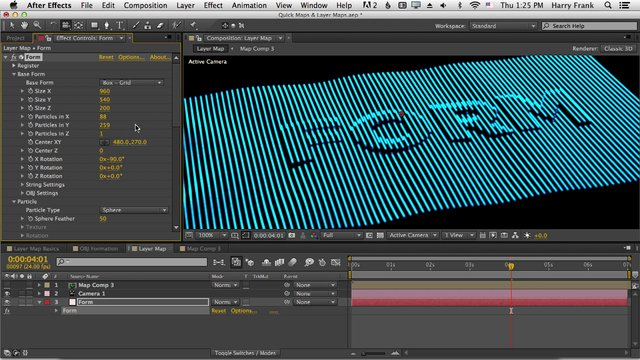 07 – Getting Started with Trapcode Form: Layer Maps