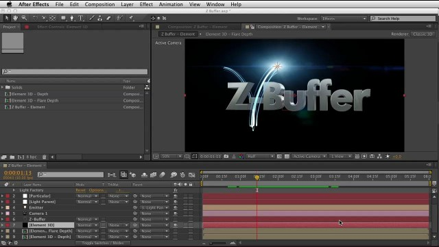Red Giant QuickTip #78: Using Trapcode Particular Z-Buffer (Integrating 3D with Particles)