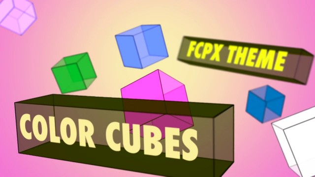 COLOR CUBES – CUBE THEME TEMPLATE FOR FCPX – PIXEL FILM STUDIOS