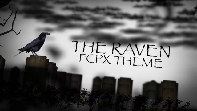 THE RAVEN – THEME TEMPLATE FOR FCPX – PIXEL FILM STUDIOS