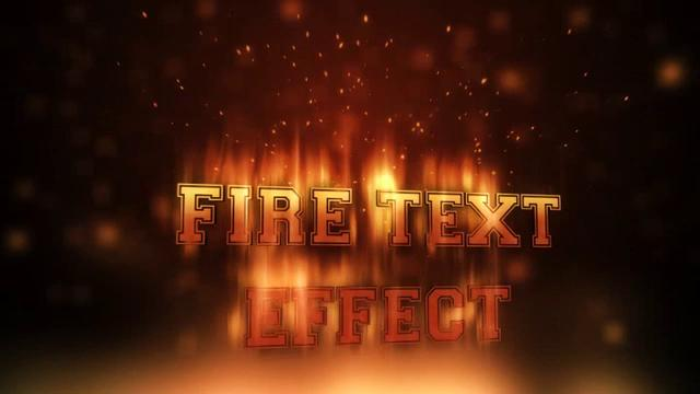 Fire Text Effect Template