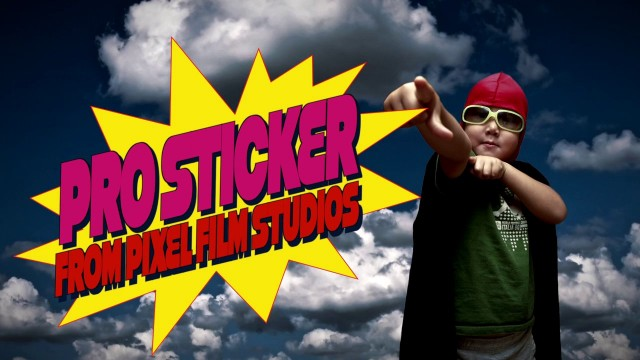 PROSTICKER™ – PROFESSIONAL COMIC BOOK STICKERS FROM PIXEL FILM STUDIOS