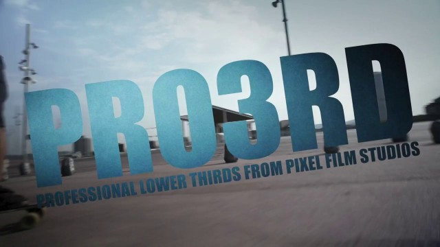PRO3RD™ – PROFESSIONAL LOWER 3RD TITLES FOR FCPX – Pixel Film Studios