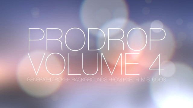 PRODROP™ VOLUME 4 – PROFESSIONAL BOKEH TEXT BACKDROPS FOR FCPX – PIXEL FILM STUDIOS