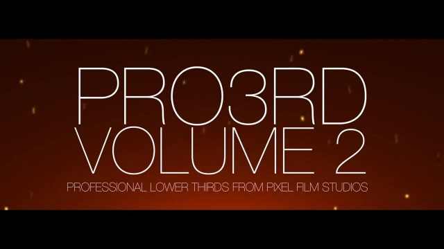 PRO3RD™ VOLUME 2 – PROFESSIONAL LOWER 3RD TITLES FOR FCPX – Pixel Film Studios