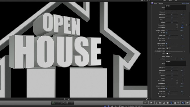 FCPX3D TEXT TUTORIAL