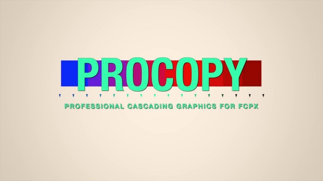 PROCOPY™ – CASCADING GRAPHICS FOR FCPX – Pixel Film Studios