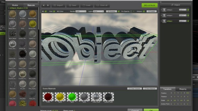04 mObject 3D Extrude