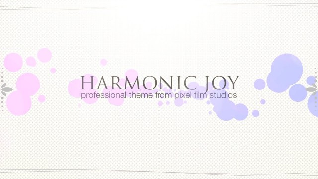 HARMONIC JOY – PROFESSIONAL THEME FOR FINAL CUT PRO X – Pixel Film Studios