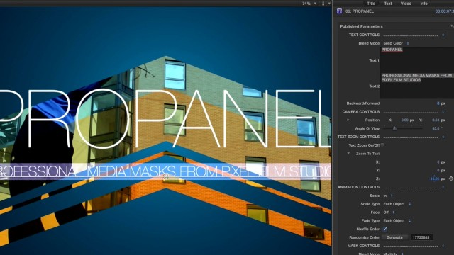 PROPANEL LESSON – PROFESSIONAL PANEL MASKING FOR FCPX – PIXEL FILM STUDIOS