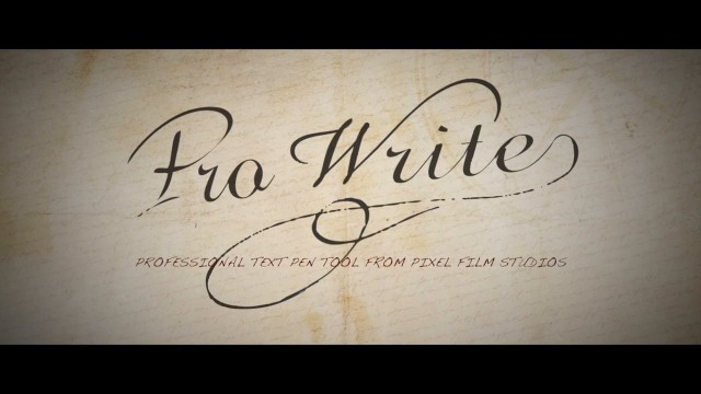 PROWRITE™ – PROFESSIONAL TEXT PEN TOOL FOR FCPX FROM PIXEL FILM STUDIOS