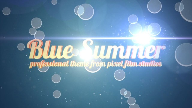 BLUE SUMMER – PROFESSIONAL THEME FOR FINAL CUT PRO X – Pixel Film Studios
