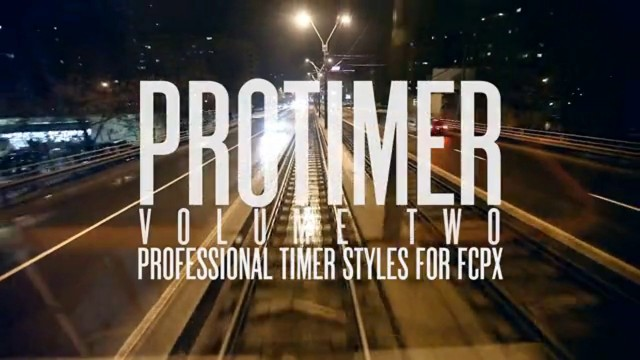 Pixel Film Studios – PROTIMER™ VOLUME 2 PROFESSIONAL TIMER STYLES FOR FCPX