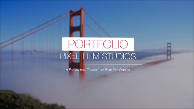 PORFTOLIO – PROFESSIONAL THEME FOR FINAL CUT PRO X – PIXEL FILM STUDIOS
