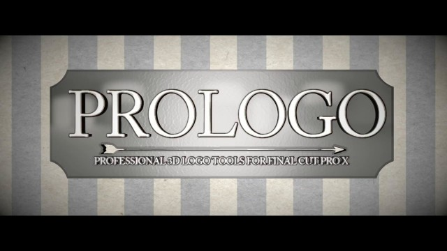 Pixel Film Studios – PROLOGO™ PROFESSIONAL 3D LOGO EFFECTS FOR FCPX