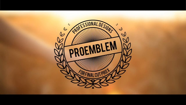 PROEMBLEM™ – EMBLEM DESIGN TOOL KIT FOR FCPX – Pixel Film Studios