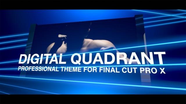 DIGITAL QUADRANT – PROFESSIONAL THEME FOR FINAL CUT PRO X – PIXEL FILM STUDIOS