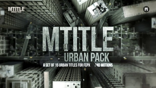 mTitle Urban Pack for Final Cut Pro X and Apple Motion 5