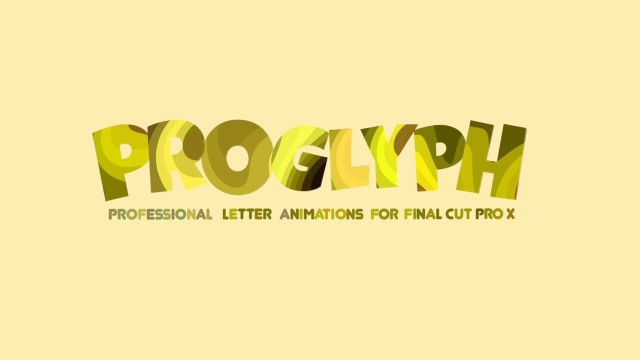 Pixel Film Studios – PROGLYPH™ Professional Letter Animations For FCPX