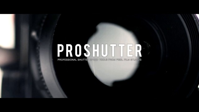 PROSHUTTER™ – PROFESSIONAL SHUTTER SPEED TOOLS FOR FCPX FROM PIXEL FILM STUDIOS