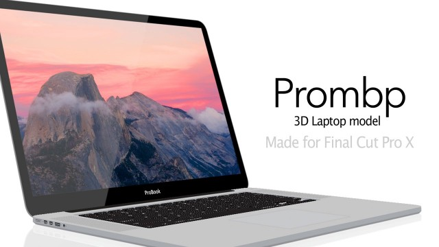 PROMBP – 3D Laptop Model For Final Cut Pro X – Pixel Film Studios