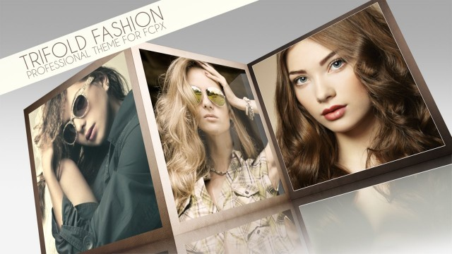 TRIFOLD FASHION – Professional Theme for Final Cut Pro X – Pixel Film Studios