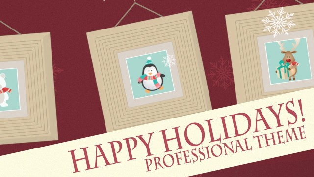 Happy Holidays – Professional Theme for Final Cut Pro X – Pixel Film Studios