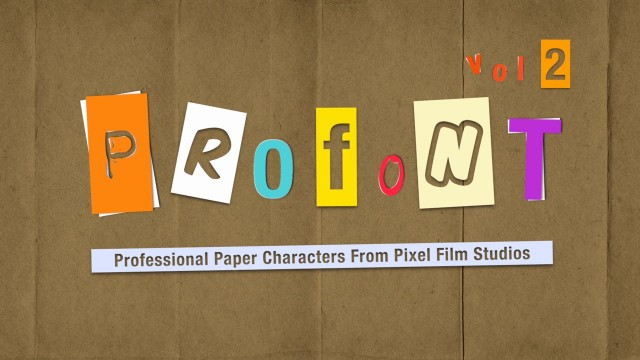 PROFONT Vol. 2 – Professional Paper Characters In FCPX from Pixel Film Studios