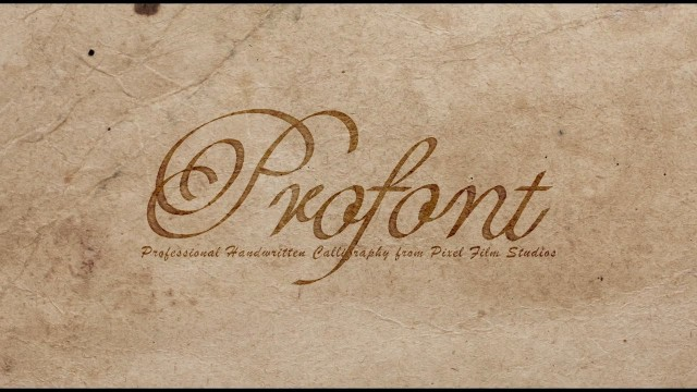 ProFont: Volume 3 – Professional Handwritten Calligraphy from Pixel Film Studios