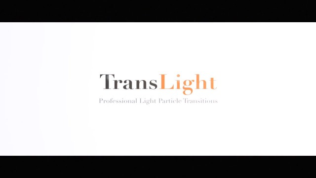 TransLight – Professional Light Particle Transitions from Pixel Film Studios
