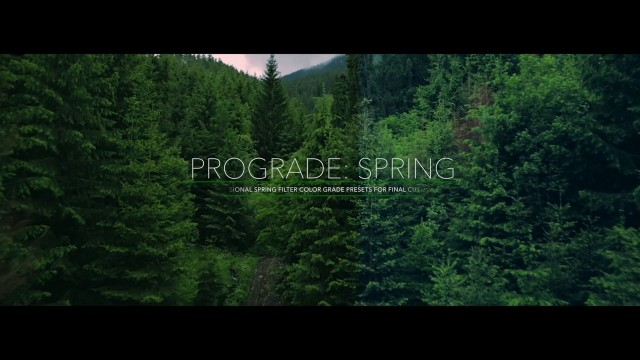 ProGrade: Spring – Professional Spring Color Grades for FCPX from Pixel Film Studios