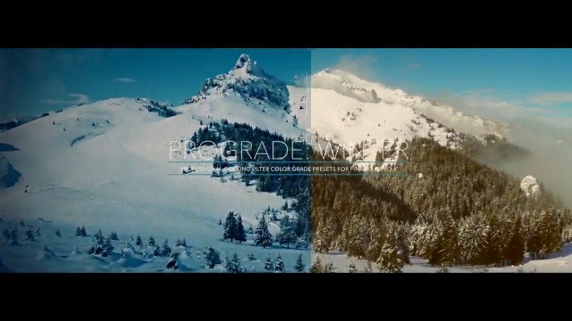 ProGrade: Winter – Professional Cool Color Grades for FCPX from Pixel Film Studios