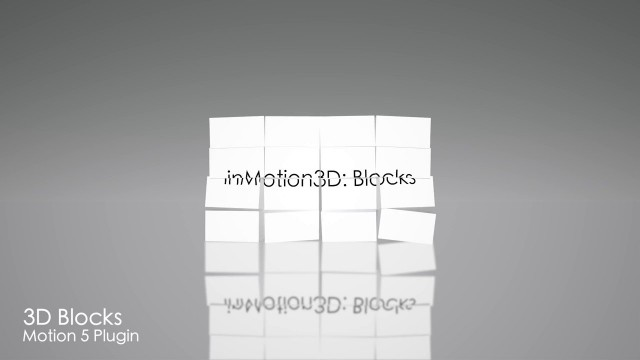 inMotion3D: Blocks – 3D Block Effect for Motion 5 – Pixel Film Studios