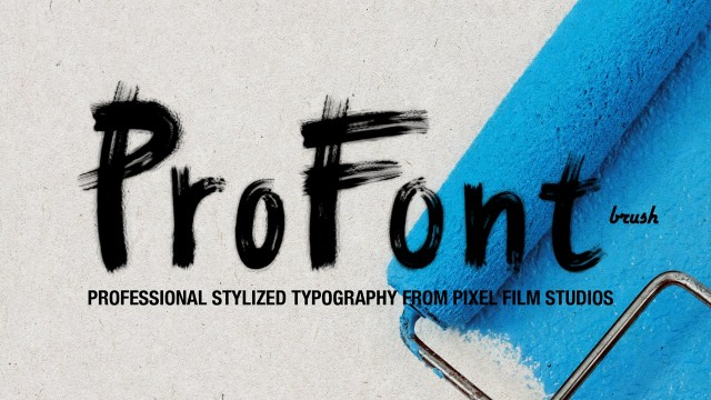 ProFont: Brush – Professional Stylized Typography for FCPX from Pixel Film Studios