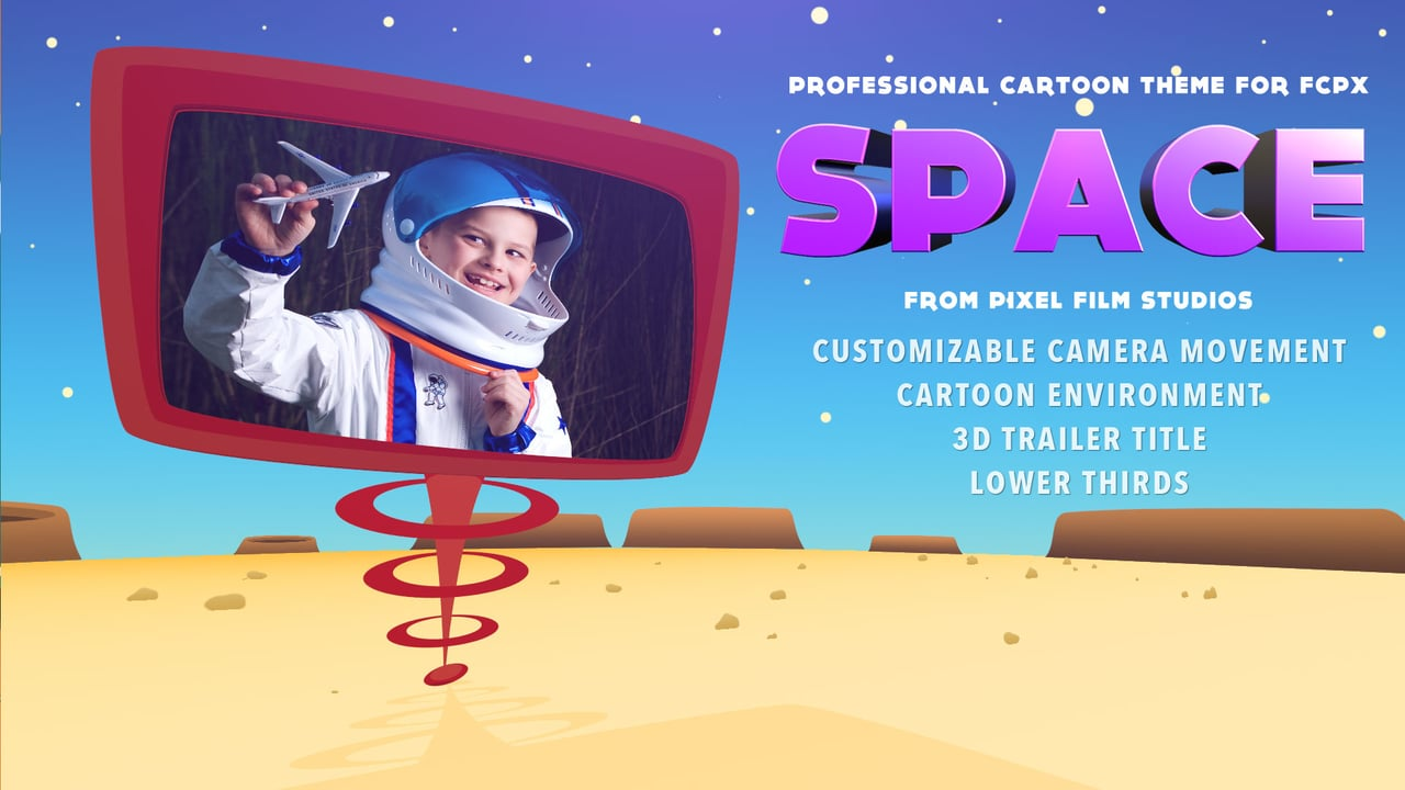 Cartoon Theme Package For Final Cut Pro X