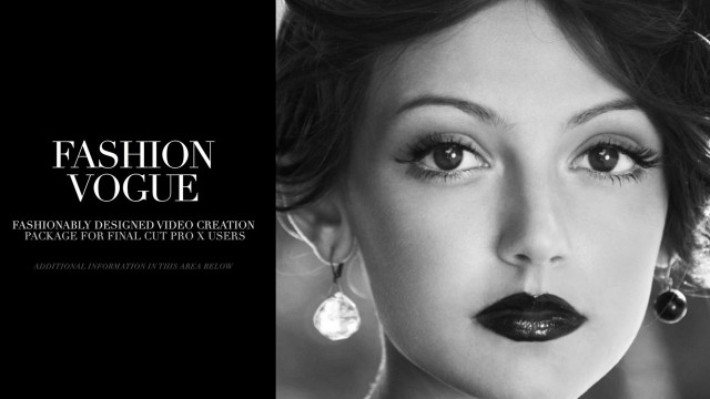 Fashion: Vogue – Fashion Theme Package for Final Cut Pro X