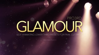 Pro3rd Glamour – Professional Lower Thirds For Final Cut Pro X – Pixel Film Studio