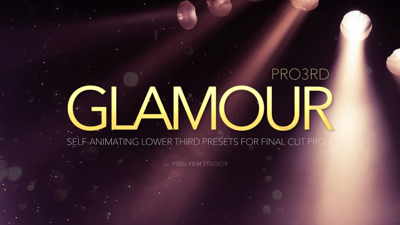 Pro3rd Glamour – Professional Lower Thirds For Final Cut Pro X