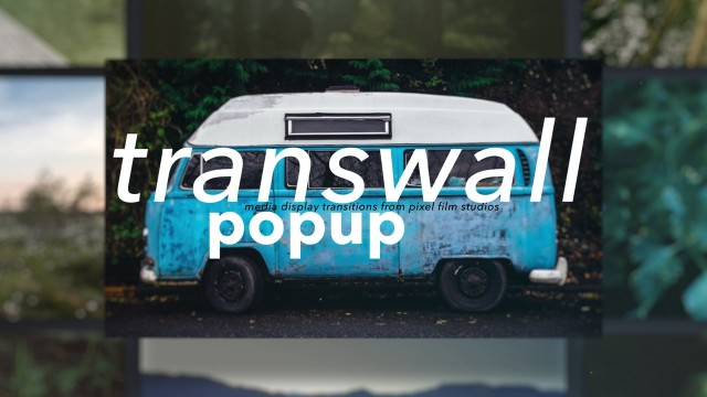 TransWall: PopUp – Media Display Wall Transitions in FCPX from Pixel Film Studios
